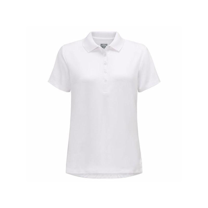 Polo Femme Callaway Essential Blanc