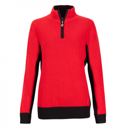 Haut Manches Longues Femme Golfino Cold Protection Rouge