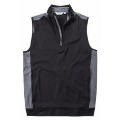 Gilet Coupe-Vent 1/2 Zip Ashworth Stretch Noir