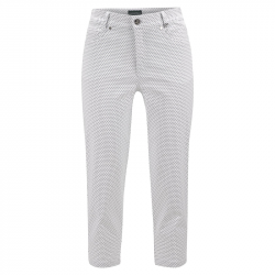 Pantalon Femme Golfino Capri Blanc