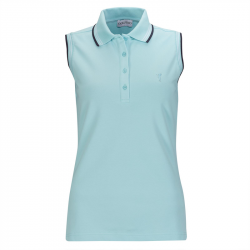 Polo Sans Manches Femme Golfino Maura Bleu Ciel