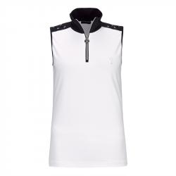Polo Sans Manches Femme Golfino Nautical Blanc