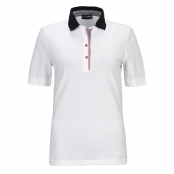 Polo Femme Golfino Vichy Blanc
