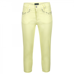 Pantacourt Femme Golfino Under The Sea Jaune