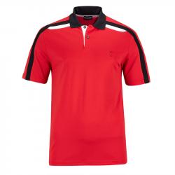 Polo Golfino Performance Contrast Rouge