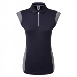 Polo Sans Manches Femme Footjoy ProDry Interlock Bleu Marine