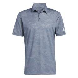 Polo Adidas Camo Bleu
