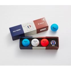 Coffret Balles Volvik Vivid France x3