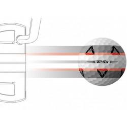 Alignement Balles TaylorMade TP5x Pix x12