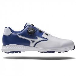 Chaussure Mizuno NexLite GS Spikeless BOA Bleu/Blanc