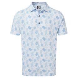 Polo Footjoy Impression Floral Blanc/Bleu
