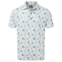 Polo Footjoy Impression Floral Blanc/Gris