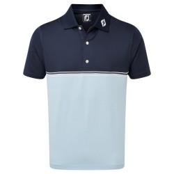 Polo Footjoy Blocs Couleurs Bleu