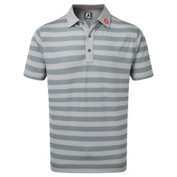 Polo Footjoy Stretch Pique Rugby Gris