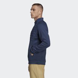 Prix Haut Manches Longues Adidas Quarter-Zip Bleu Marine