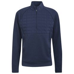 Haut Manches Longues Adidas Quarter-Zip Bleu Marine