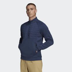 Achat Haut Manches Longues Adidas Quarter-Zip Bleu Marine